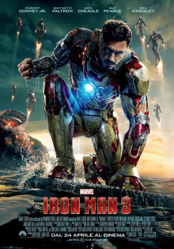 Iron Man 3: Character Poster italiano per Robert Downey Jr.