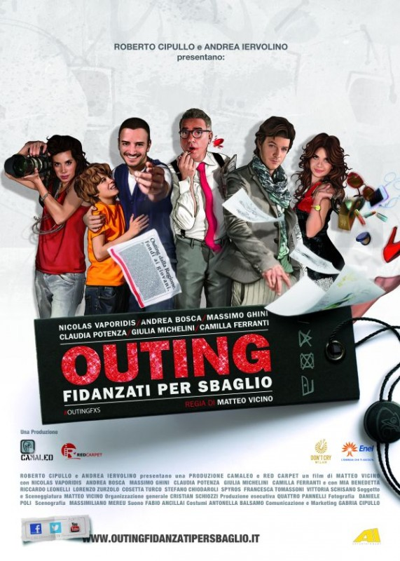 Outing - Fidanzati per sbaglio: la locandina ufficiale del film