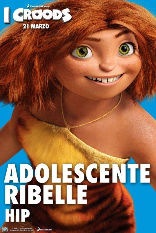 I Croods: Hip, l'adoscente ribelle, nel character poster italiano
