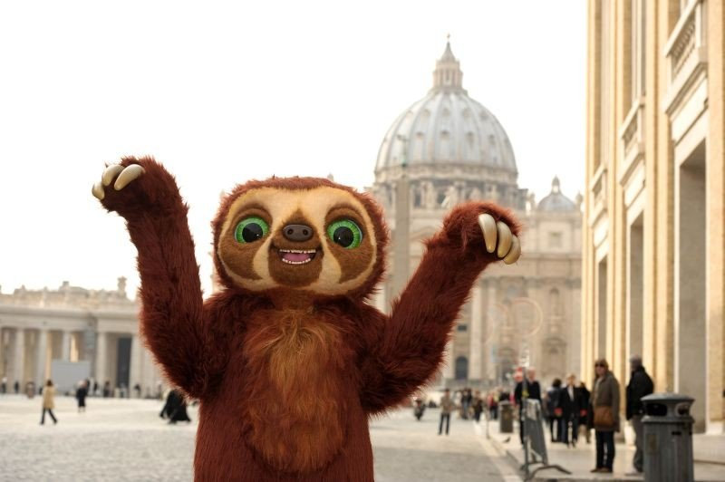 I Croods: Laccio in visita a Piazza San Pietro