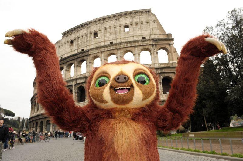I Croods: Laccio in visita al Colosseo