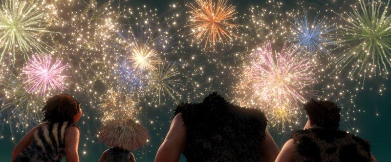 I Croods: spettacolari fuochi d'artificio in una scena del film