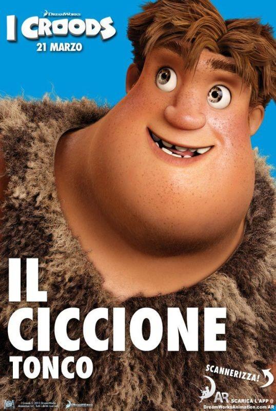 I Croods: Tonco il ciccione nel character poster italiano