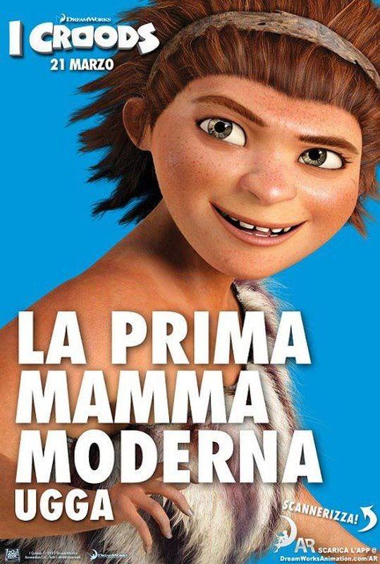 I Croods: Ugga, la prima mamma moderna, nel character poster italiano