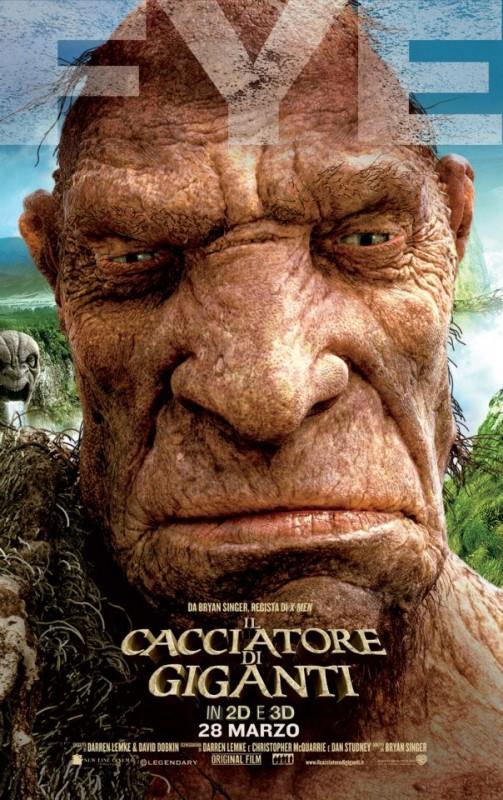 Il cacciatore di giganti: il character poster italiano con il gigante Fye