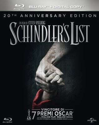 La copertina di Schindler's List (blu-ray)