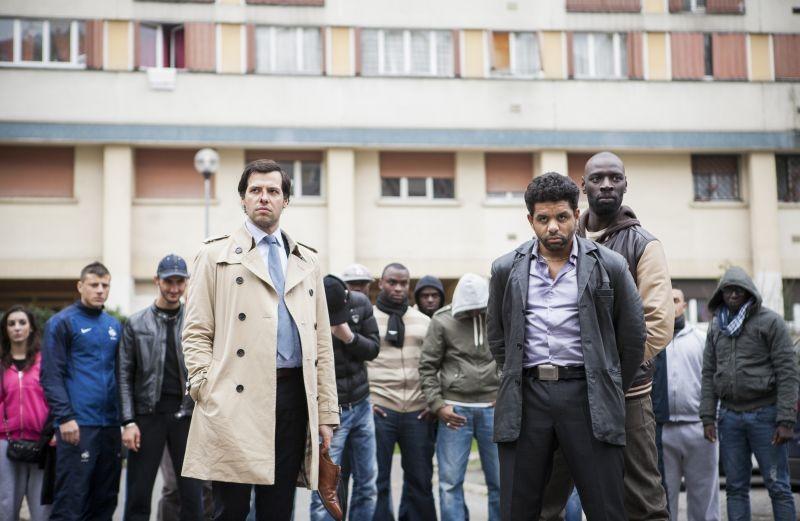 Due agenti molto speciali: Omar Sy e Laurent Lafitte in azione in una scena della commedia poliziesca