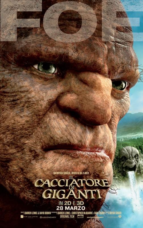 Il cacciatore di giganti: il character poster italiano con il gigante Foe