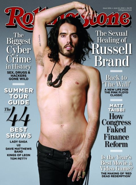 Russell Brand in cover su Rolling Stone
