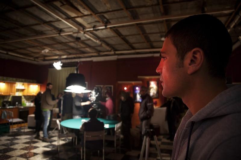 Salvatore Ruocco protagonista del film Take Five di Guido Lombardi. Una scena del film