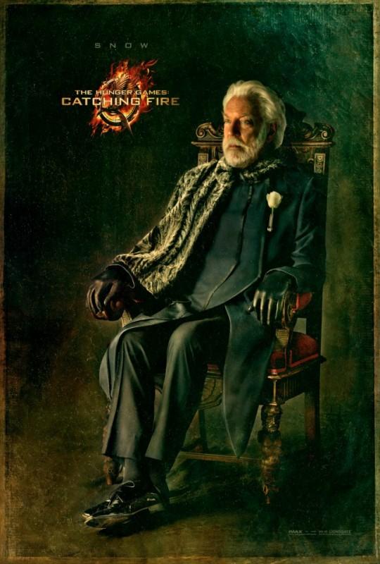 Hunger Games - La ragazza di fuoco: character poster di Donald Sutherland