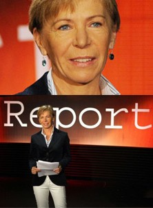 La locandina di Report