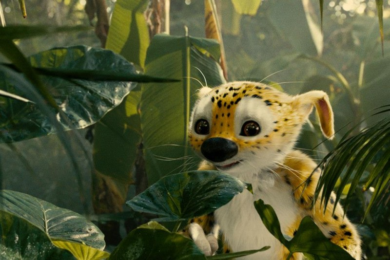 Marsupilami: una scena animata del film