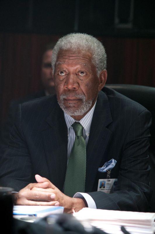Attacco al potere - Olympus Has Fallen: Morgan Freeman nei panni del portavoce della Casa Bianca Martin Trumbull