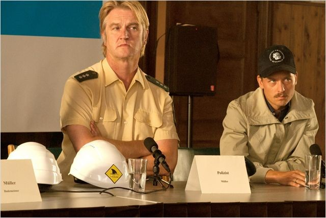 Hai Alarm am Müggelsee - Detlev Buck, Tom Schilling in una scena