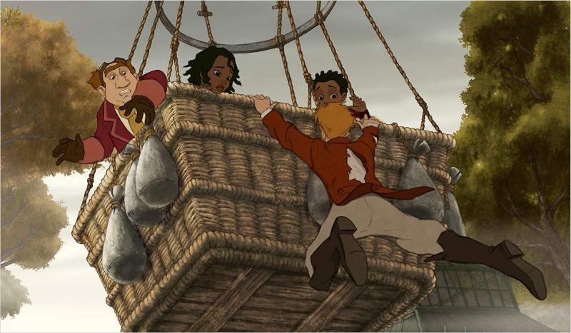 Le avventure di Zarafa - Giraffa Giramondo: una scena in mongolfiera tratta dal film