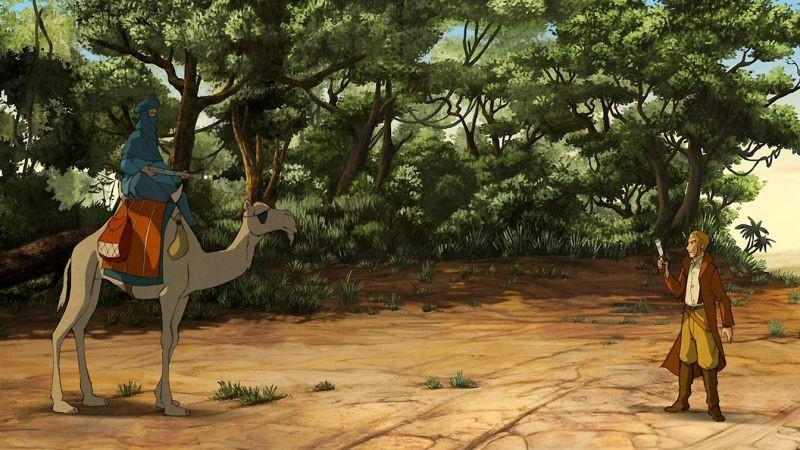 Le avventure di Zarafa - Giraffa Giramondo: una scena tratta dal film d'animazione