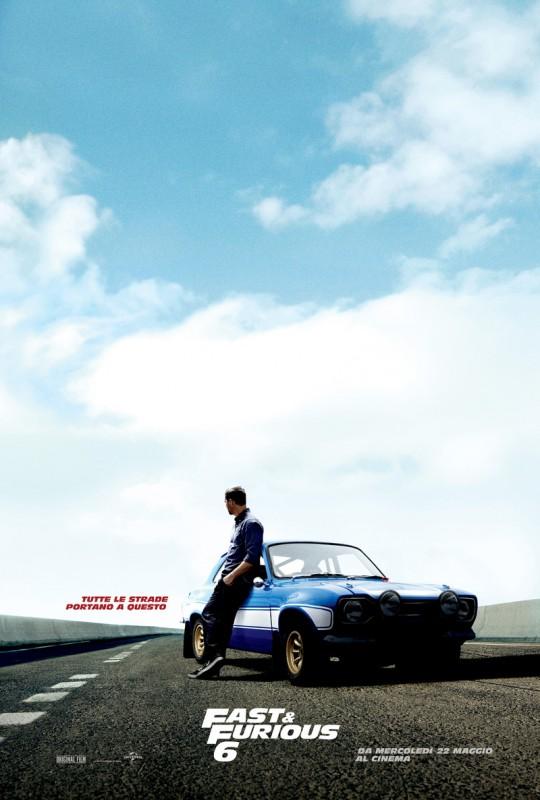 Fast & Furious 6: il teasero poster italiano con Paul Walker
