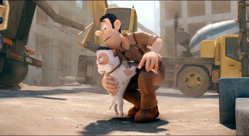 Le avventure di Taddeo l'esploratore: il nostro eroe Tad con il suo cane Jeff in una scena