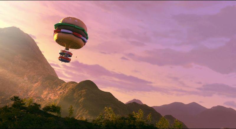 Le avventure di Taddeo l'esploratore: la gustosa mongolfiera a forma di panino in una scena del film