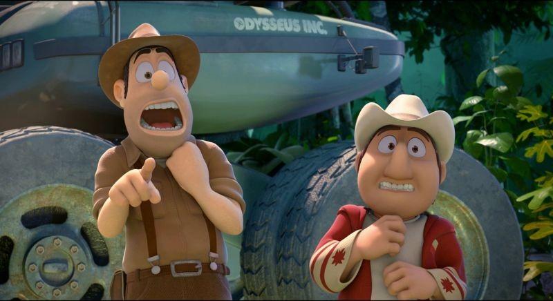 Le avventure di Taddeo l'esploratore: Taddeo insieme alla guida peruviana Freddy in una scena del film
