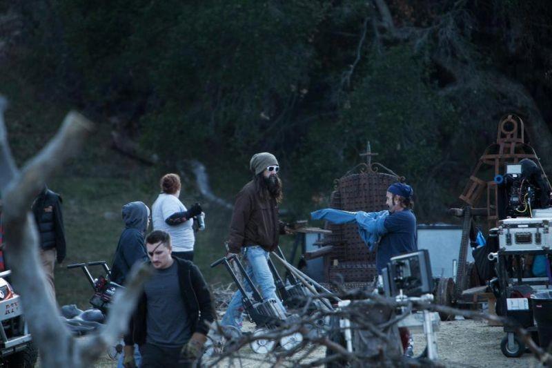 Le streghe di Salem: il regista Rob Zombie in un'immagine dal set del film