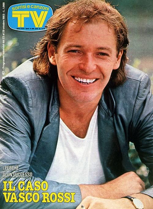 Vasco Rossi sulla cover di TV Sorrisi e Canzoni - 1983