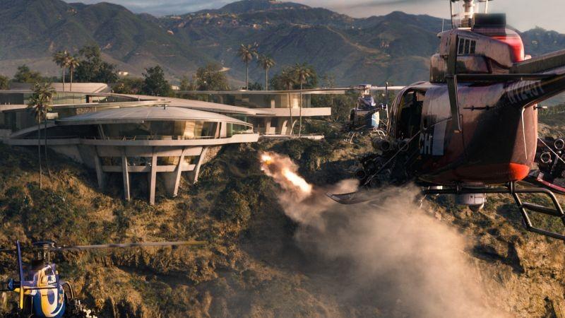 Iron Man 3: una scena in volo tratta dal film