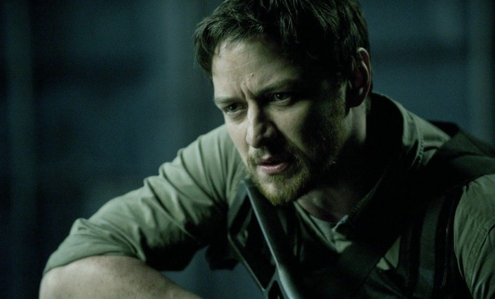 James McAvoy in Welcome to the Punch: una sequenza del film