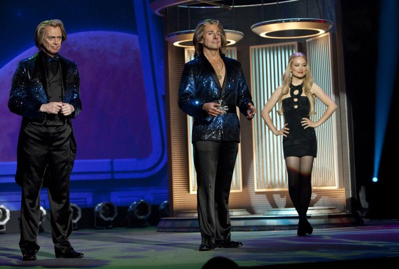 The Incredible Burt Wonderstone: Olivia Wilde tra Steve Buscemi e Steve Carell durante una performance