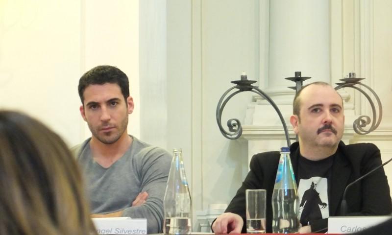 Gli amanti passeggeri: Miguel Angel Silvestre e Carlos Areces presentano il film a Roma