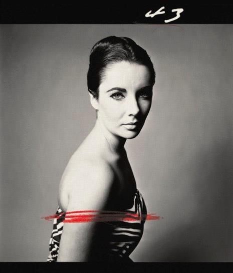 Liz Taylor in uno scatto di Avedon.