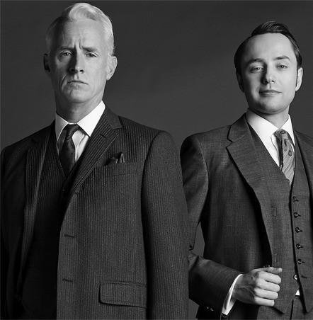 Mad Men: John Slattery e Vincent Kartheiser in una immagine promozionale della stagione 6