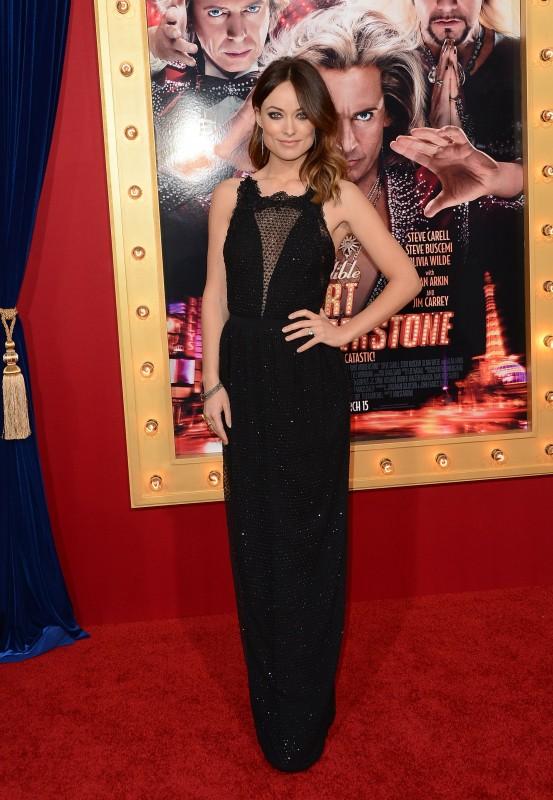 Olivia Wilde alla premiere di Burt Wonderstone con un abito di GUCCI collezione autunno - inverno 2013-14