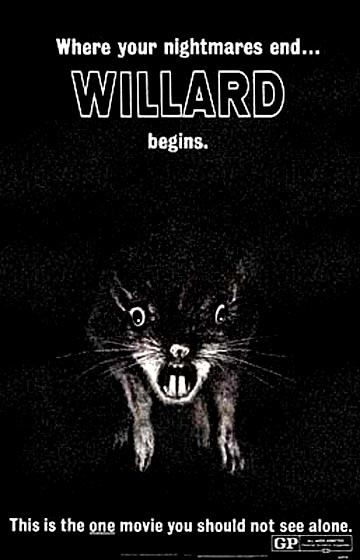 Willard e i topi: la locandina del film