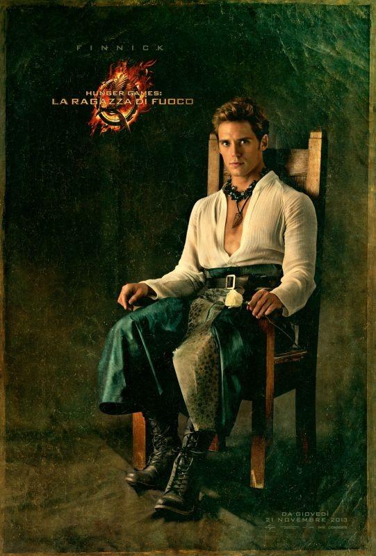 Hunger Games - La ragazza di fuoco: character poster italiano di Finnick