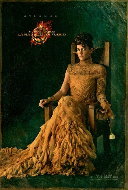 Hunger Games - La ragazza di fuoco: character poster italiano di Johanna