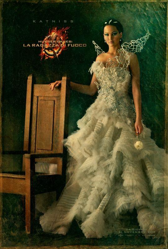 Hunger Games - La ragazza di fuoco: character poster italiano di Katniss