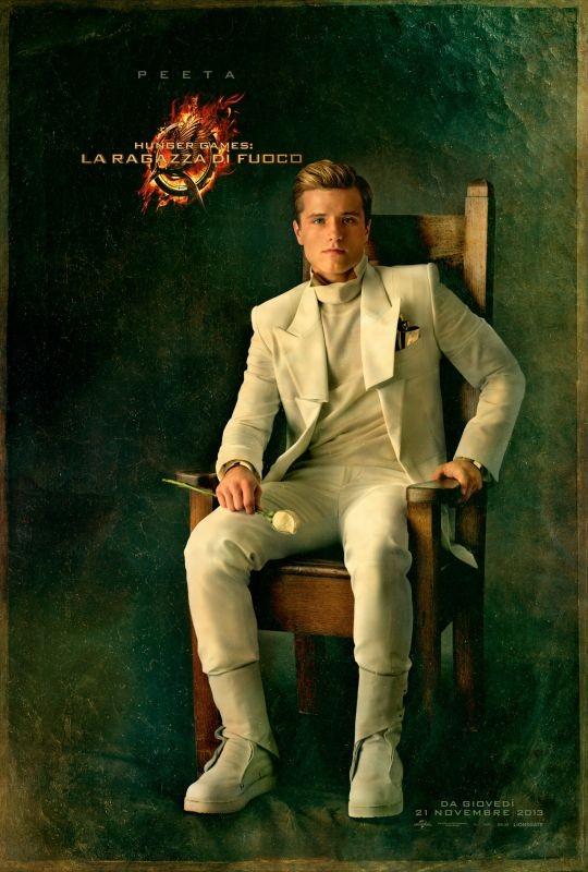 Hunger Games - La ragazza di fuoco: character poster italiano di Peeta