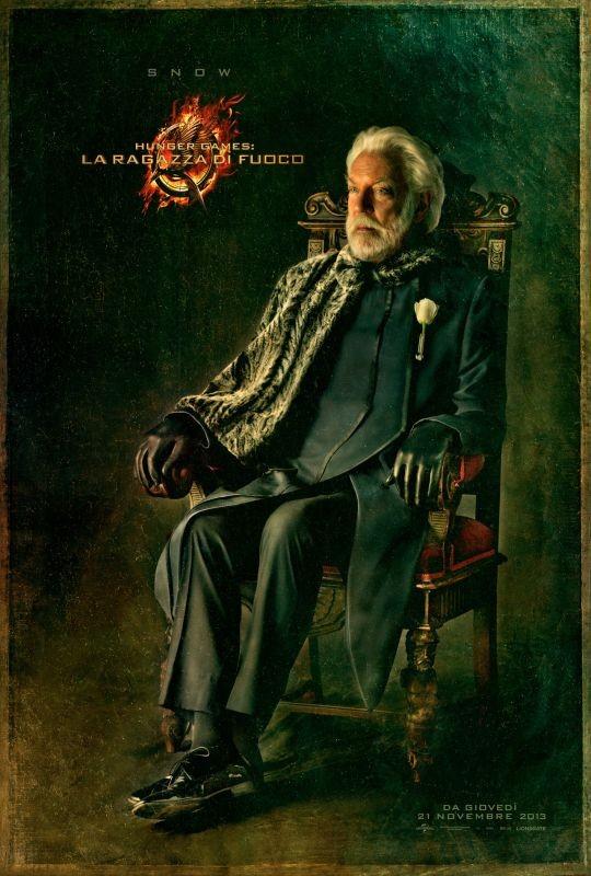Hunger Games - La ragazza di fuoco: character poster italiano di Snow