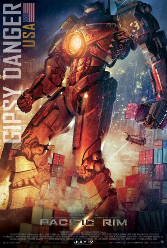 Pacific Rim: character poster dedicato al robot americano Gipsy Danger