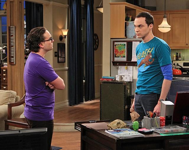 The Big Bang Theory: Johnny Galecki e Jim Parsons nell'episodio The Spoiler Alert Segmentation