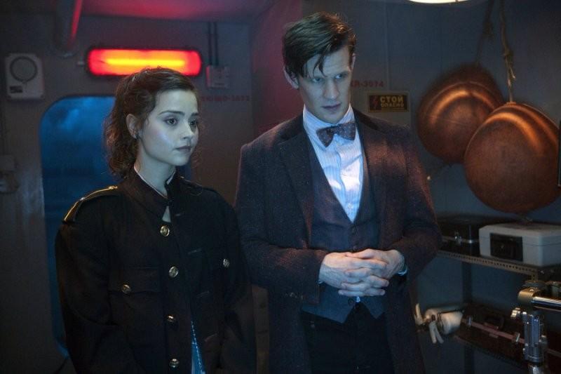 Matt Smith e Jenna-Louise Coleman in un'immagine dell'episodio Cold War, settima stagione di Doctor Who