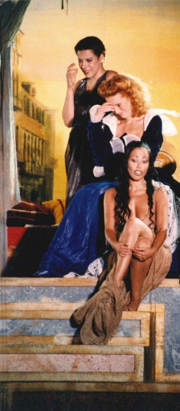 Fulvia Lorenzetti e Lucrezia Lante Della Rovere ne Il mercante di Venezia, regia G.Albertazzi