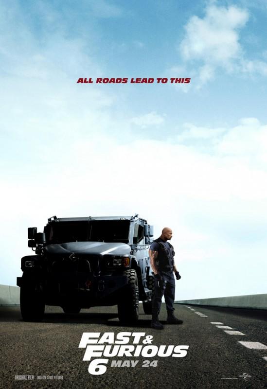 Fast & Furious 6: un nuovo character poster che vede Dwayne Johnson a fianco del suo mezzo