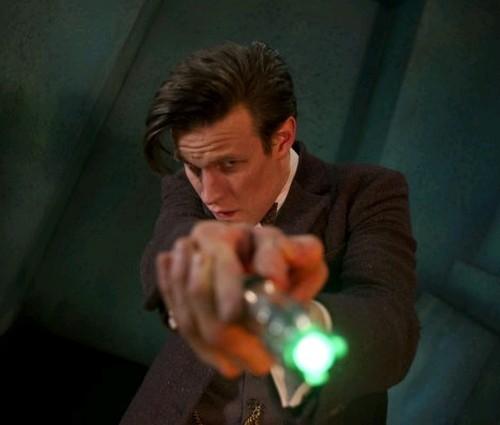 Matt Smith in un'immagine dell'episodio The Rings of Akhaten, settima stagione di Doctor Who