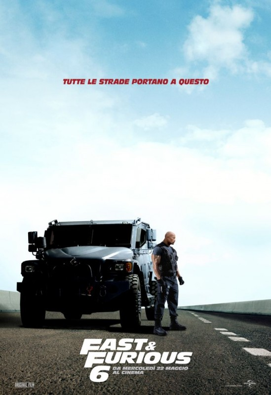 Fast & Furious 6: il character poster italiano con Dwayne Johnson