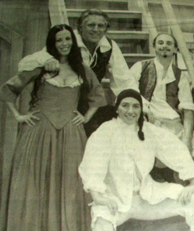 Fulvia lorenzetti, Lando Buzzanca, Cristiana Lionello in Don Giovanni di Moliere, regia L. Buzzanca