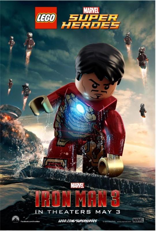 Iron Man 3: secondo poster del film in versione Lego