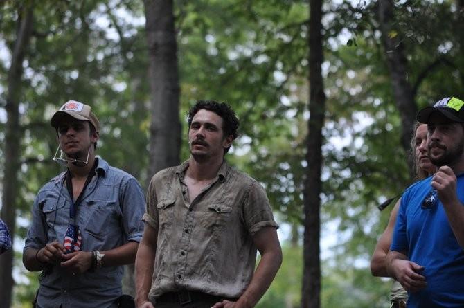 As I Lay Dying: il regista e interprete James Franco sul set